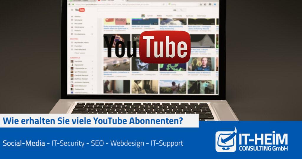 Drei wertvolle Tipps, wie Sie YouTube-Abonnenten bekommen