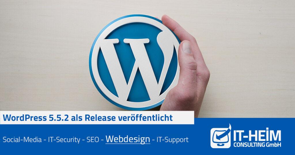 WordPress 5.5.2 als Sicherheits- und Wartungs-Release veröffentlicht