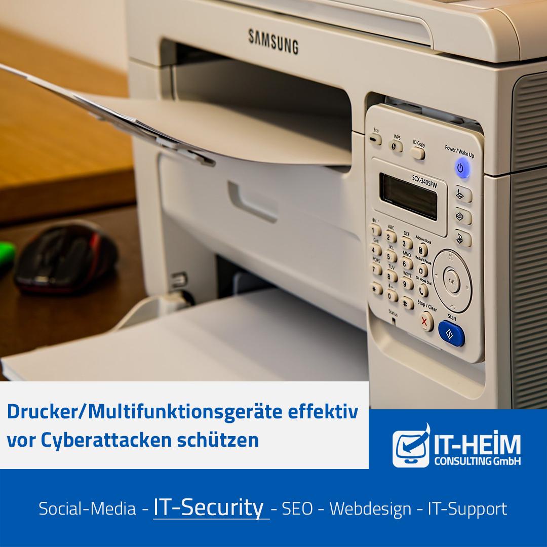 Drucker/Multifunktionsgeräte effektiv vor Cyberattacken schützen