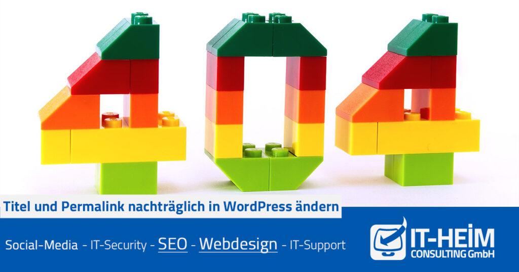 Titel und Permalink nachträglich in WordPress ändern